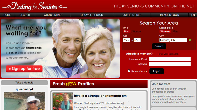Free dating services online for seniors