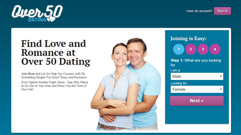 Over 50s dating site
