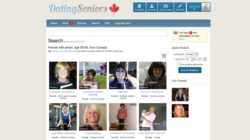 canadian senior singles Dating for seniors is the #1 dating site for senior single men/women looking to find their soulmate 100% free senior dating site signup today.