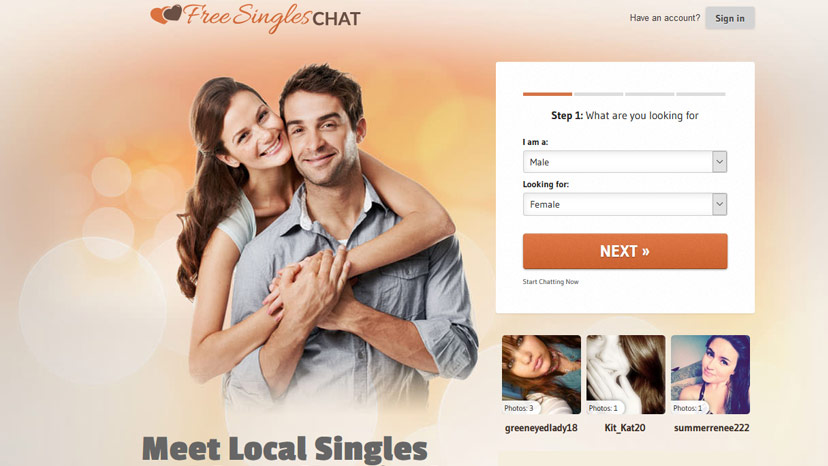 Online dating site with chat room