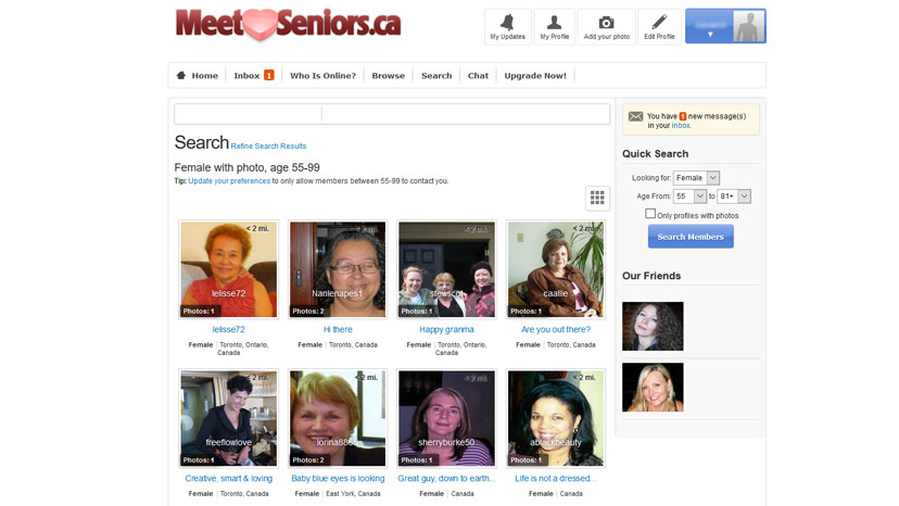 free online dating for seniors in canada