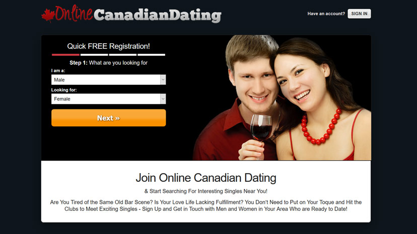Free adult dating site in canada