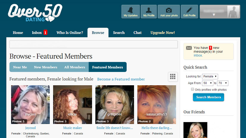 Top 10 over 50 dating sites