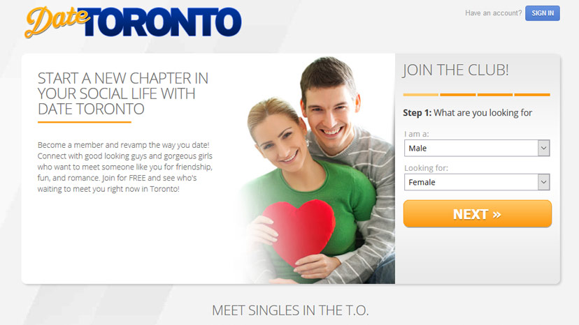 Free dating site in toronto