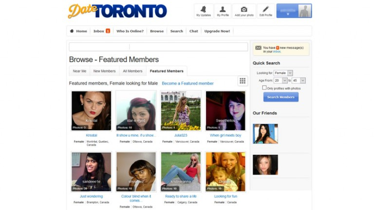 Top dating sites in toronto