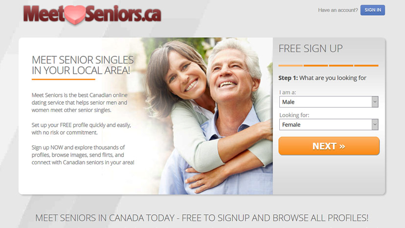 Best senior dating site for 50 singles in Canada meet seniors over 50 at