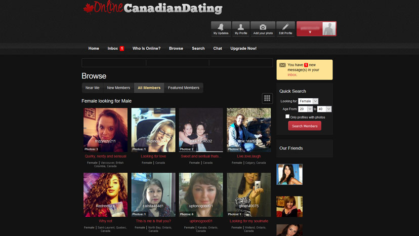 canada on line dating